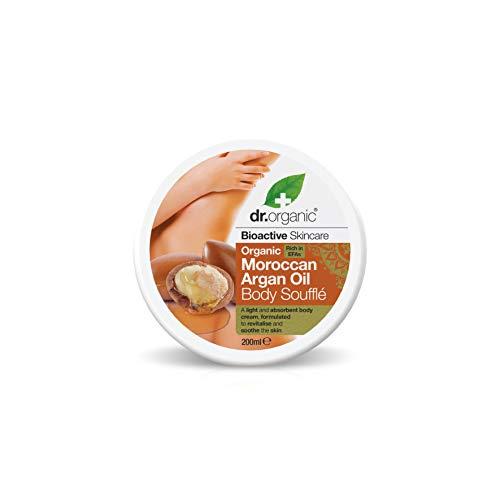 Dr.Organic Moroccan Argan Oil Body Soufflè Burro Corpo Leggero, 200 ml