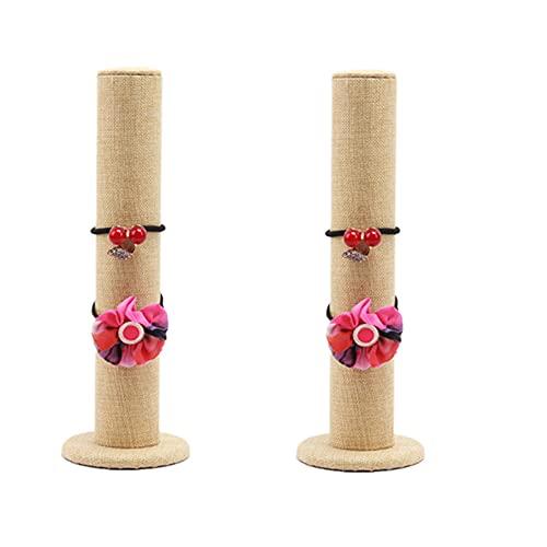 2 Pz Espositore per bracciali verticale, Espositore per bracciali per copricapo di gioielli,Espositore per gioielli a torre verticale per Bracciali Porta Elastici per Capelli