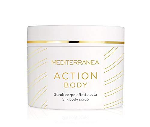 Mediterranea - Action Body - Scrub Corpo Esfoliante Effetto Seta con Sale Rosa dell'Himalaya e Oli Pregiati - 580 ml