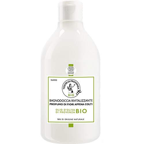 Tesori di Provenza Bagnodoccia BIO , Effetto Rinfrescante dal Profumo Floreale, con Olio d'Oliva Biologico, Ricco in Polifenoli Antiossidanti, 500 ml