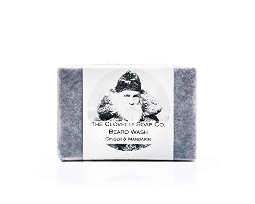 Clovelly Soap Co Saponetta per Barba Naturale e Fatta a Mano allo Zenzero e Mandarino, 100gr
