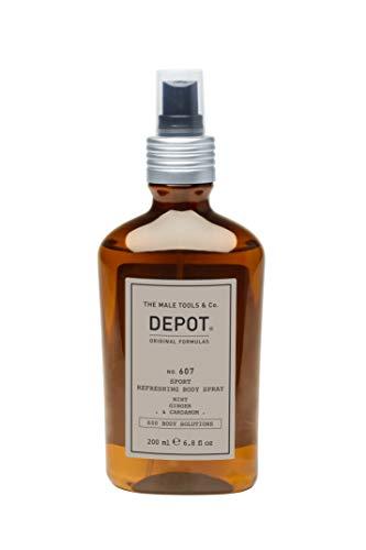 DEPOT NO. 607 SPORT REFRESHING BODY SPRAY LOZIONE CORPO 200 ML, MINT GINGER & CARDAMOM