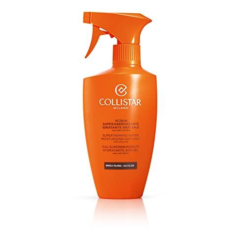 Collistar Acqua Superabbronzante Idratante Anti-sale, Spray Solare Viso e Corpo senza filtro, Intensifica l'abbronzatura, Con latte di aloe, Per tutti i tipi di pelle, 400 ml