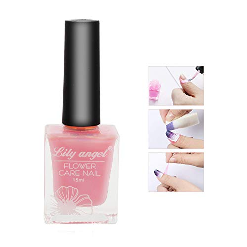 Aiooy Lattice Peel Off Liquido Peel Off Liquid Tape Nail Art Edge Protezione Liquido Polacco Peel Off Latex Rosa 15ml (Rosa-1)