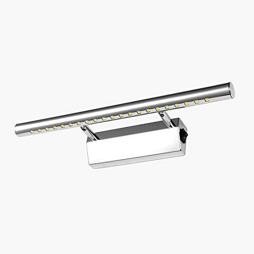 LED Luce Specchio Bagno Muro Lampada Per Specchio con Interruttore Bagno Acciaio Inossidabile Lampada Specchio 5W Bianco Caldo 3000K IP44 Lunghezza 40cm