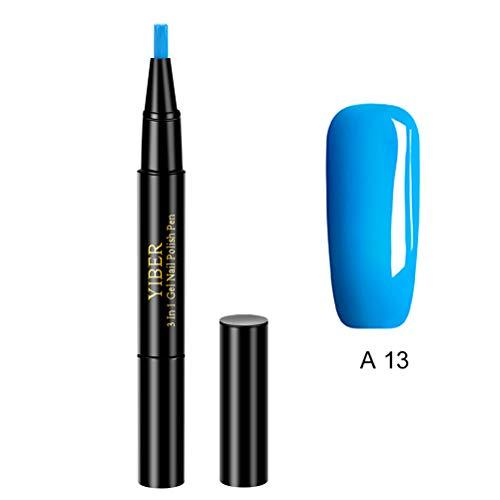 Amiispe Penne per Nail Art, Penna per Nail Art per Nail Art 3D Decorazione Fai da Te Moda per Donna Gel per Nail Art Penna per Smalto per Unghie Strumenti per Manicure Colla per Unghie