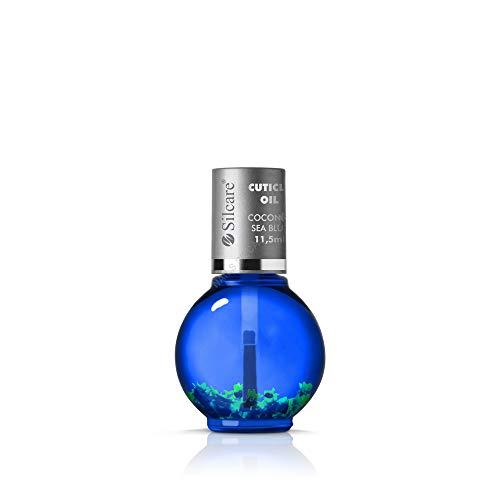Silcare - Olio per cuticole, trattamento manicure/pedicure fragranza Cocco - Per unghie normali o deboli, dona lucentezza - Olio naturale con fiori Coconut Sea Blue 11,5 ml