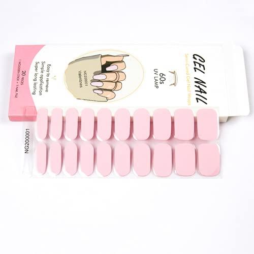 Adesivi per unghie in gel impermeabili, 20 Adesivi in strisce di smalto per unghie , Adesivo per unghie in gel autoadesivo, Colore Classico Smalto Unghie con strumenti per unghie, per donne