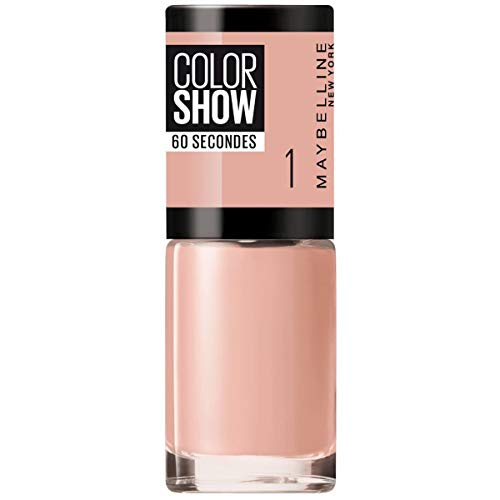 Maybelline New York Smalto Color Show, Colore Brillante, Asciugatura Rapida, 01 Go Bare
