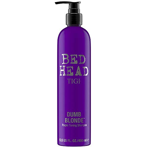 TIGI Bed Head Dumb Blonde Purple Toning Shampoo, con Pigmenti Viola, per Capelli Biondi