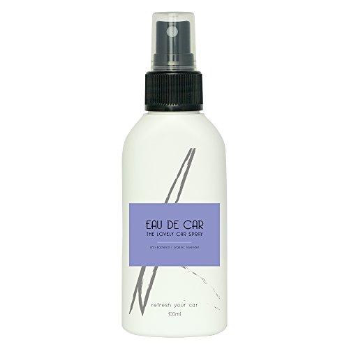 Profumo auto Eau de Car | Deodorante spray per auto 100 ml biologico | Accessori per auto e profumo ambiente | Profumatore auto con olio di lavanda