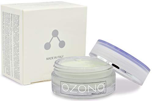 OZONO H&B Crema Idratante Viso Professionale Fitocrema - Olio Ozonizzato - Estratti Naturali - Antibatterica - Antirughe - Azione Nutriente Protettiva - MADE IN ITALY (50ml)