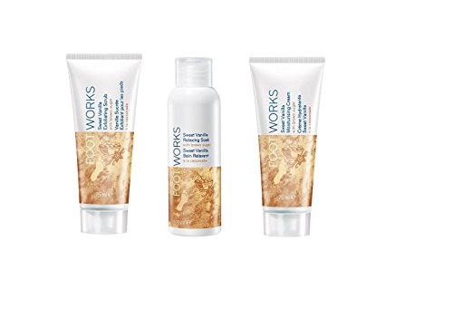 Avon Brown Sugar Footworks Pack incluso scrub esfoliante, crema idratante, Relaxing soak