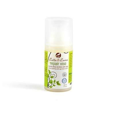 LATTE & LUNA - Repair Viso - Crema attiva lenitiva e anti-age - per pelli secche o impure - Contro arrossamenti, pori dilatati ed acne - Perfetta come base trucco - 30 ml