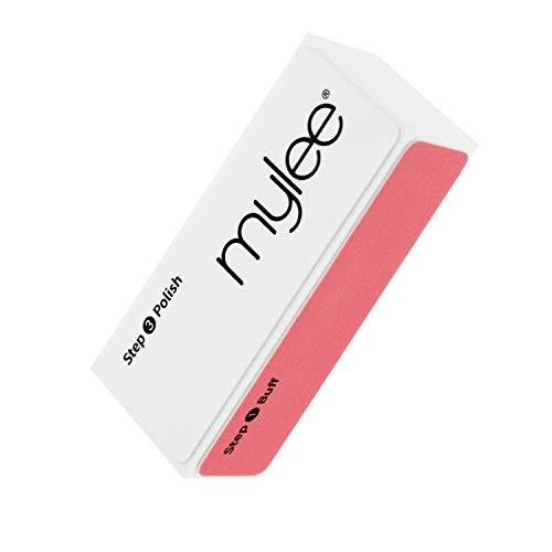 Mylee Buffer per unghie a 3 lati – Trattamento per manicure professionale, Tripla grana (320/600/3000), Blocco lucidante per preparazione smalto gel e acrilico – Lucida unghie naturali