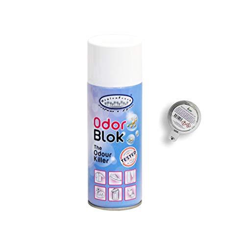 HygienFresh Odorblock - Spray Innovativo TogliOdori Professionale Multifunzione Triplice Azione su Cattivi Odori Persistenti per Tessuti Ambienti Capsula Cassetti - 400 ML