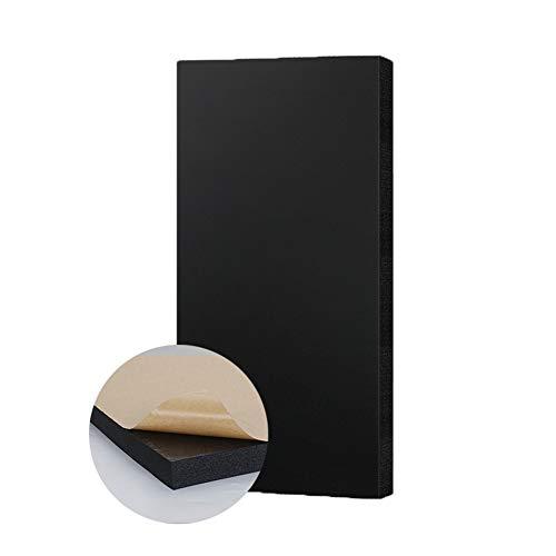 Wxq 10pcs Pannello di Isolamento Acustico Autoadesiva Schiuma di Gomma-plastica Spugna A Cellule Chiuse Studio Riduzione del Rumore di 25 Db Piastrella da Muro (Size : 10pcs 100x50x2cm)