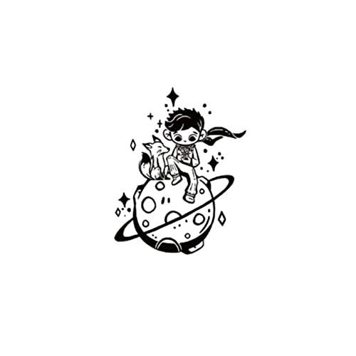 LYDP Adesivi per tatuaggi dell'amore del piccolo principe alle erbe aromatiche, resistenti all'acqua e durevoli, per due settimane, netti adesivi per tatuaggi
