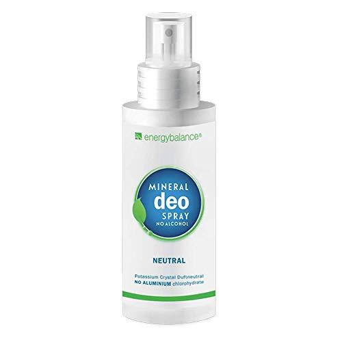 Deodorante EnergyBalance spray cristallino - Senza alcol - Senza alluminio - Senza parabeni - NO test su animali - Vegano - Non macchia - Unisex - Ipoallergenico - 100 ml