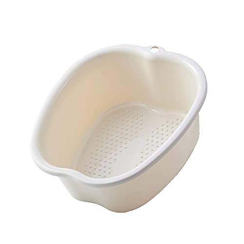 Robusta vasca da bagno in plastica per pedicure, piedi idromassaggio con acqua calda e massaggio ai piedi, perfetta per facilitare la circolazione o rilassare i muscoli. Ciotola grande 37cm/14,5'