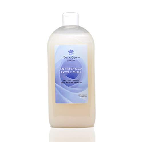Il Miglior Bagnodoccia Nutriente per pelli sensibili MADE IN ITALY - Bagnoschiuma Latte e Miele, che Nutre, Idrata la Pelle di tutto il Corpo. Ottimo per bagno e doccia - 500ml