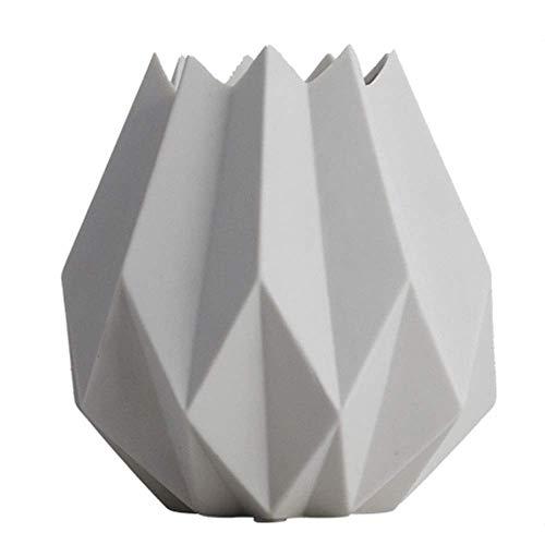 LLDKA Stile Nordico Vaso di Ceramica Ornamento Origami Mobili Tatuaggi 5x6 Pollici,Bianca
