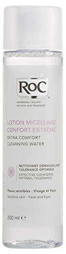 RoC - Acqua detergente micellare extra comfort - Per pelli sensibili, viso e occhi - Pulizia delicata ed efficace - Riduce al minimo le allergie - 400 ml