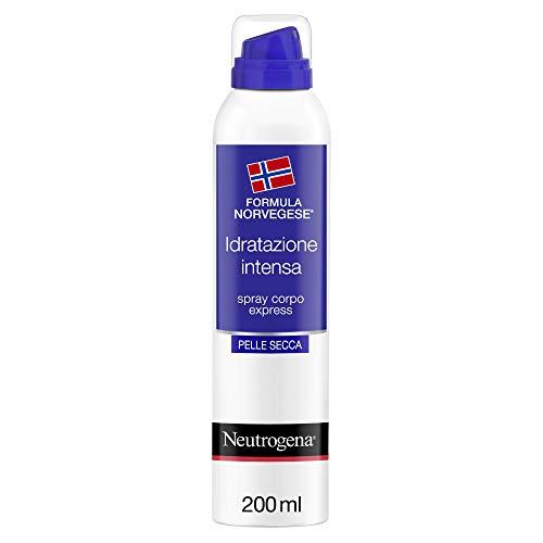 Neutrogena Spray Idratante Corpo, Express 360, Formula Norvegese, Pelle Secca, Idratazione Profonda, 200 ml