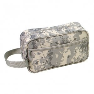 ACU Digital Cam Overnight Toiletry Bag with Zippered Front Pocket by Elite Team