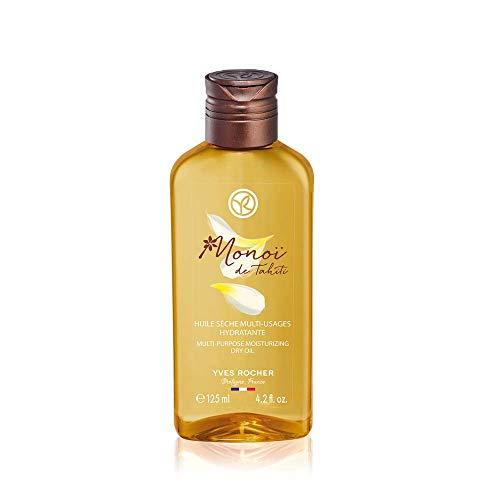 Yves Rocher Monoï Olio secco Multiuso, cura esotica per pelle e capelli, 1 flacone da 125 ml