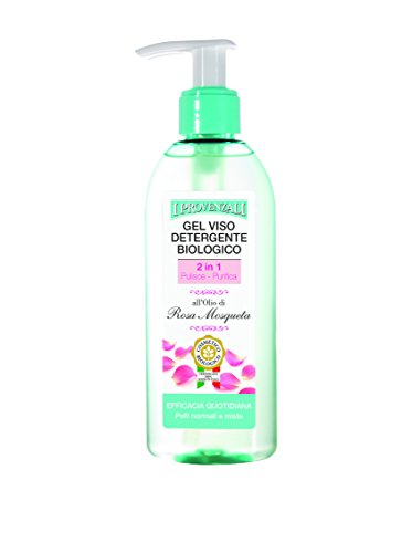 I Provenzali Gel Viso Detergente Biologico all'olio di Rosa Mosqueta, 150 ml, 1 pz.