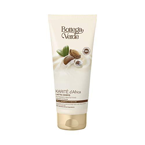 Bottega Verde, Karite d'Africa - Latte corpo - nutriente protettivo - con burro di Karite (200 ml) - pelli normali o secche