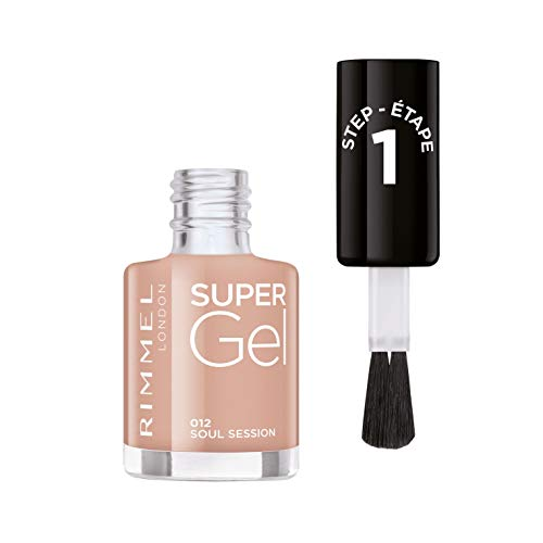 Rimmel Smalto Unghie Super Gel, Nail Polish Effetto Gel a Lunga Durata, 012 Soul Session, 12 ml