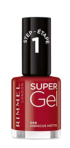 Rimmel Super Gel - Smalto per unghie Tono 059 Hibiscus Motte) - 12 ml