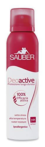 SAUBER Set 6 SAUBER Deodorante spray deoactive lunga durata 150 ml.