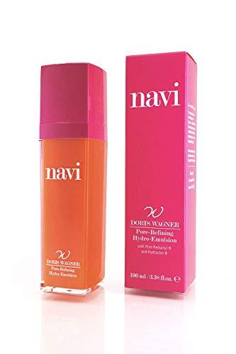 NAVI Pore-Refining Hydro-Emulsion per Punti Neri e Pori Dilatati con Olio di Ricino | Primer Viso Make-Up Astringente Pori, Idratante & Illuminante Viso, 100 ml