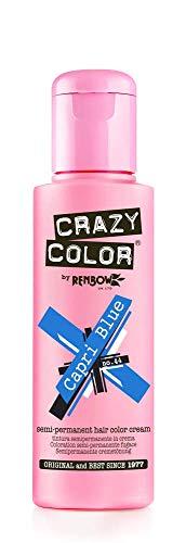 Crazy Color 4 X Crazy Color Semi Permanent Hair Dyes Capri Blue, 4 x 100 ml