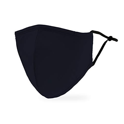 Weddingstar Maschera facciale in tessuto lavabile per adulti Copertura protettiva in tessuto riutilizzabile e regolabile con tasca per filtro antipolvere - Marina Militare