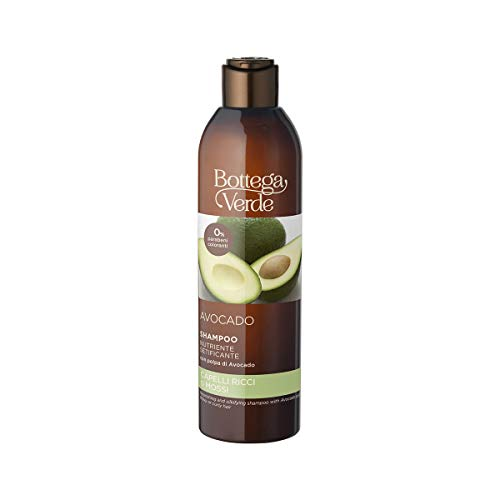 Bottega Verde, Avocado - Shampoo nutriente setificante - con polpa di Avocado (250 ml) - capelli ricci o mossi