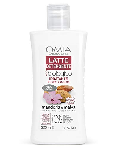 Omia Latte Detergente Viso Ecobio Mandorla e Malva - 200 ml