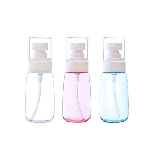 SUPVOX 3 pezzi vuoto ricaricabile trasparente pompa di plastica bottiglia Mini dispenser per lozione crema olio essenziale sapone da viaggio piccolo contenitore 60 ML