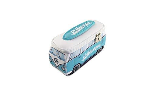BRISA VW Collection - Volkswagen Hippie Bus T1 Camper Van Borsa Universale 3D da toilette-bagno di Neoprene, Beauty-case da Viaggio, Trousse per trucchi-make-up, Astuccio Porta-matite (Azzurro/Bianco)