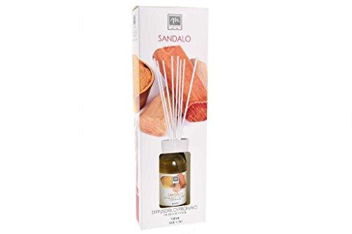 GIRM® - ME16552 Diffusore d'Essenza con Bastoncini in Cotone Aroma Sandalo ml 125
