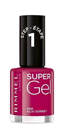 Rimmel Super Gel - Smalto per unghie (tonalità 040 Açai Sorbet) - 12 ml