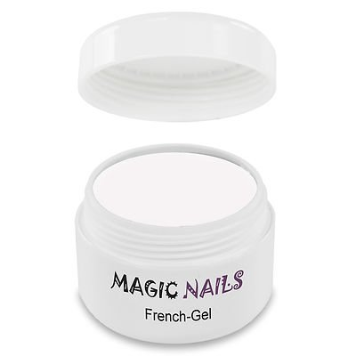 Magic Items, 'French Gel', gel fotoindurente per unghie, colore super bianco, 15 ml
