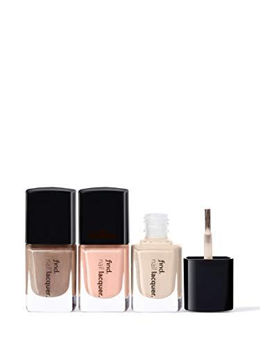 Marchio Amazon - find. Everyday beauty - Smalto per unghie, confezione da 3 (n.2, n.3, n.4)