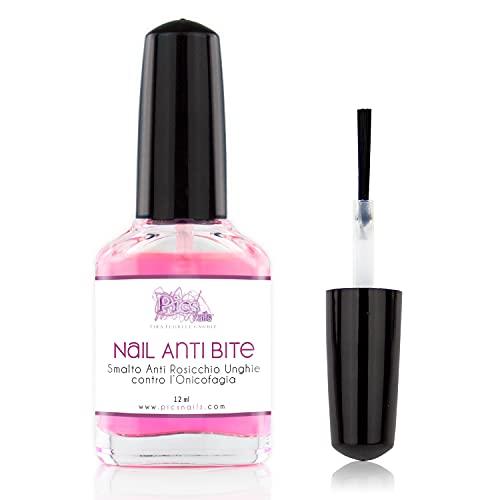Smalto Amaro per non mangiare le Unghie 12 ml - Nails Stop Biting contro l' onicofagia-Smalto Anti Rosicchia unghie Ideale per evitare di mangiarsi le unghie.