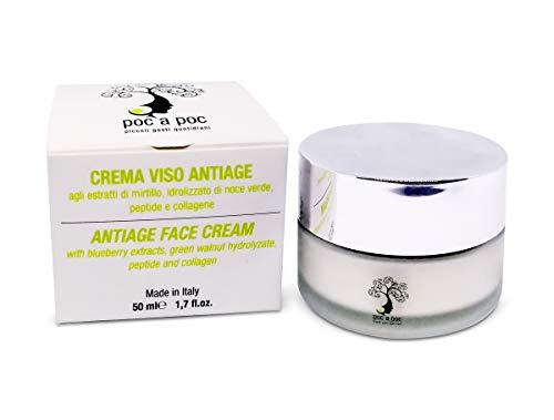 POC A POC Crema Viso Anti Age Con Acido Jaluronico, Collagene, Peptide Botox - like, Cellule Staminali Vegetali di Peperoncino. Formato 50ml