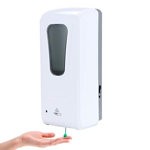 TsunNee ,1000 ML Distributore automatico gel alcool mani, disinfettante in gel senza tocco, induzione intelligente, dispenser sapone liquido senza contatto per casa hotel centro commerciale scuola