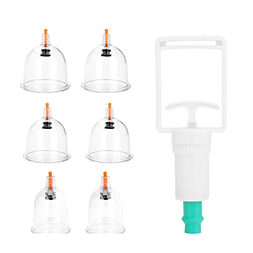 Coppettazione Therapy - Cupping Set, 6 Pz Medical Coppettazione Dispositivo Sano Cura Vacuum Terapia Set